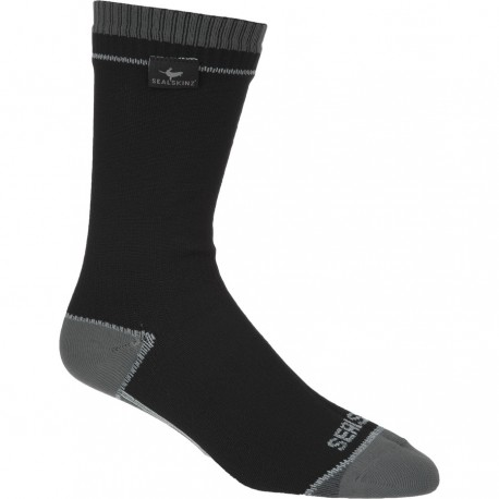 Sealskinz Mid length socks calzini Albatross  media lunghezza nero grigio