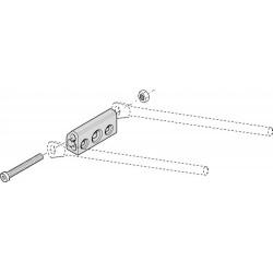 Hebie 0199 SA supporto in alluminio per fissaggio portapacchi ad aste
