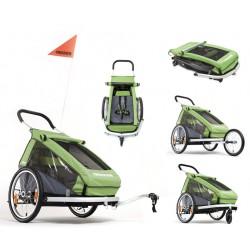 Croozer Kid 1 carrello portabimbo per bicicletta verde