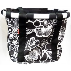 Reisenthel cestino bikebasket fiori nero
