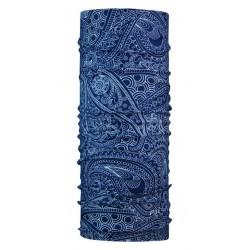 P.A.C. collare all season in microfibra  multiuso disegno Arwana blue scuro
