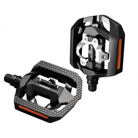 Shimano PD-T420 Click'R pedali combi nero