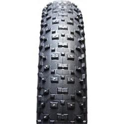 """VEE TIRE Snowshoe XL copertone chiodato pieghevole Fat bike da 26""""x4,8"""" nero"""