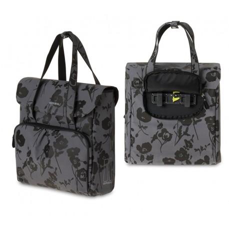 Basil Elegance borsa posteriore  floreale moonstone/nero