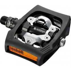Shimano PD-T400 Click'R pedali con sganci bifacciali nero