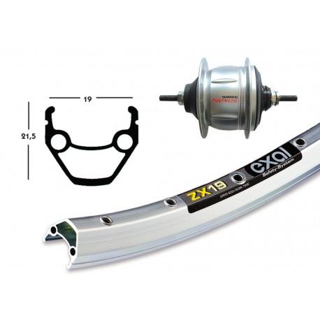 Bike-parts ruota completa Shimano nexus 8 velocità posteriore nero-argento