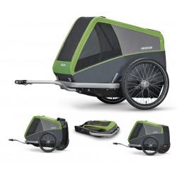 Croozer Dog XL carrello per bicicletta Verde/grigio
