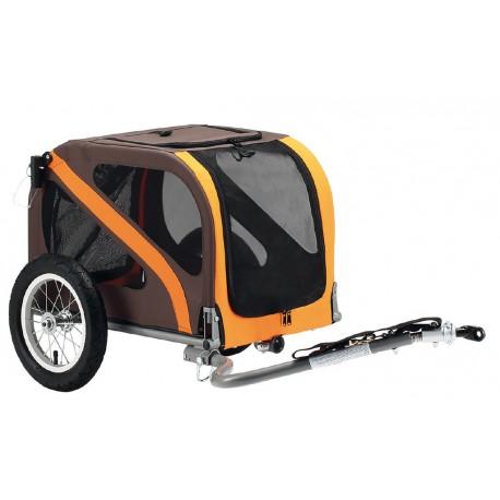 Blue Bird Dog Mini rimorchio porta cani per bicicletta arancio