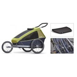 Croozer Kid 2 carrello portabimbi per bicicletta verde limone