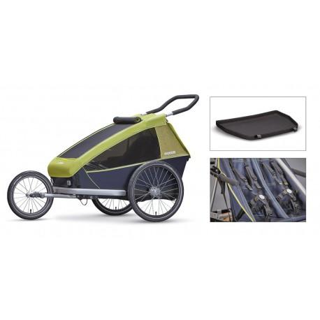 Croozer Kid 2 carrello porta bimbi per bicicletta verde