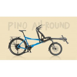 Hasebikes Pino Allround tandem a pedalata indipendente blu metallico