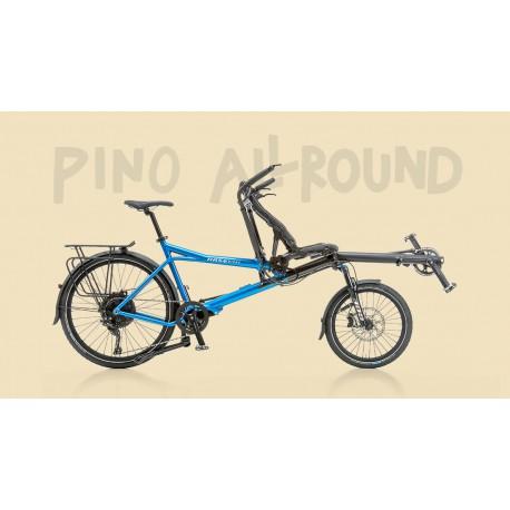 Hasebikes Pino Allround tandem a pedalata indipendente rosso