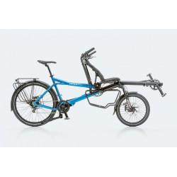 Hasebikes Pino Tour tandem a pedalata indipendente blu metallico