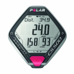 Polar CS500+CAD cardio frequenzimetro nero/argento
